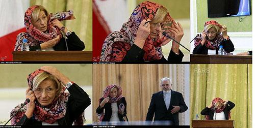 نرمش قهرمانانه خانم وزیر در مماشات با رژیم